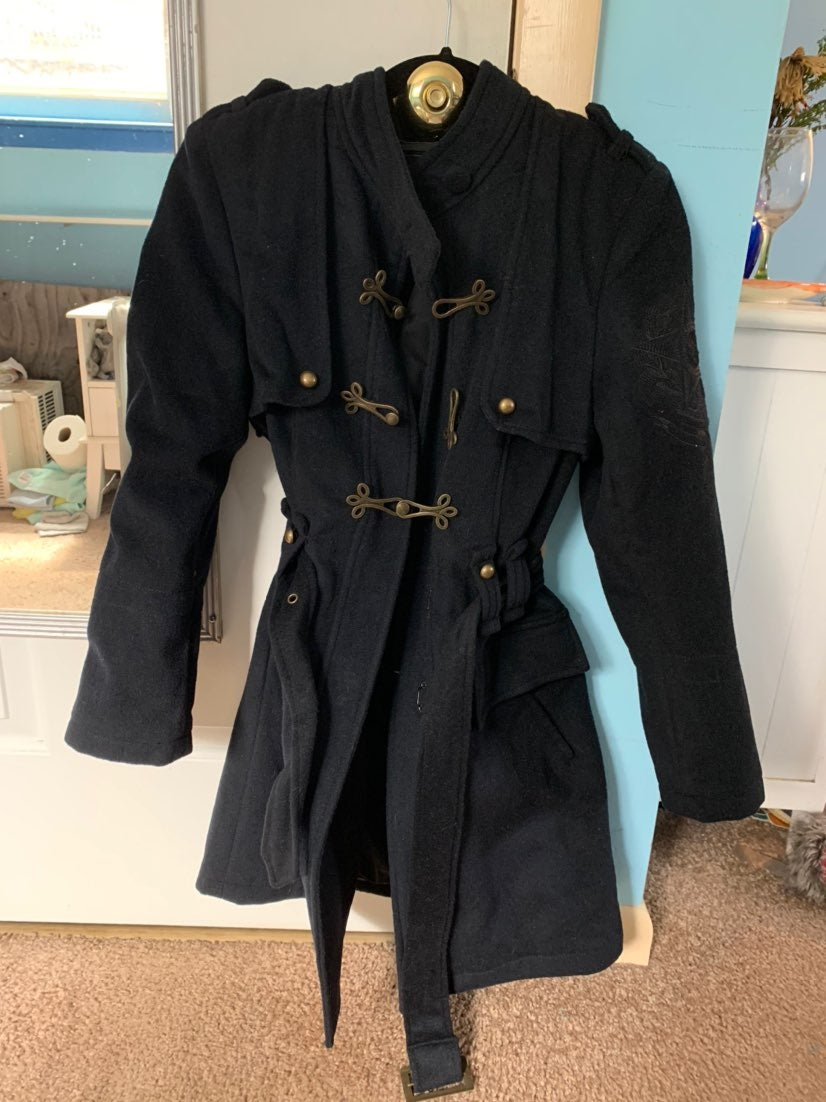 black long jacket size small womens