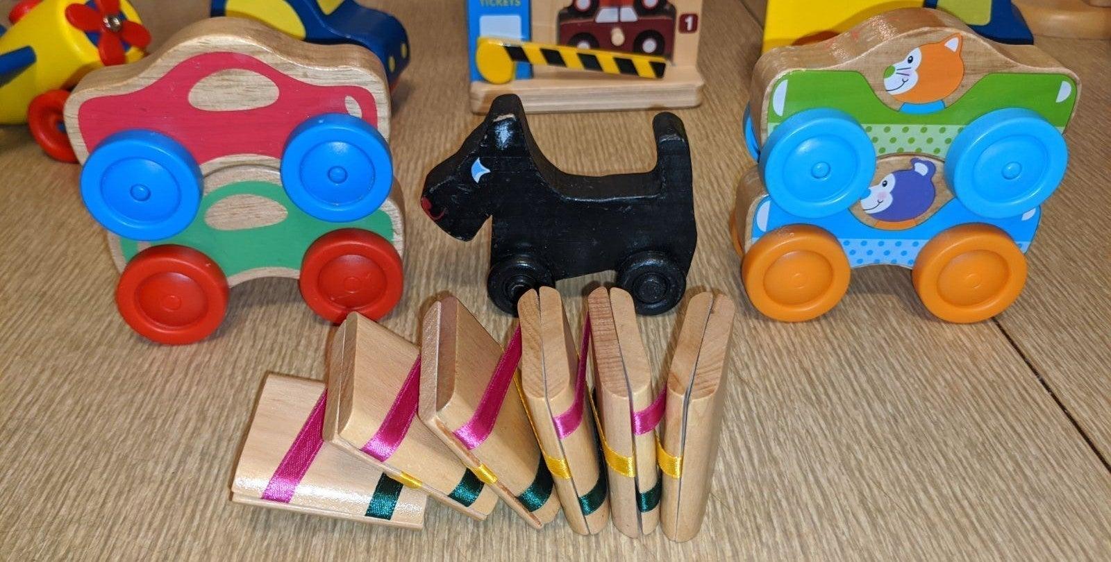 Wooden Toys Melissa & Doug Lot