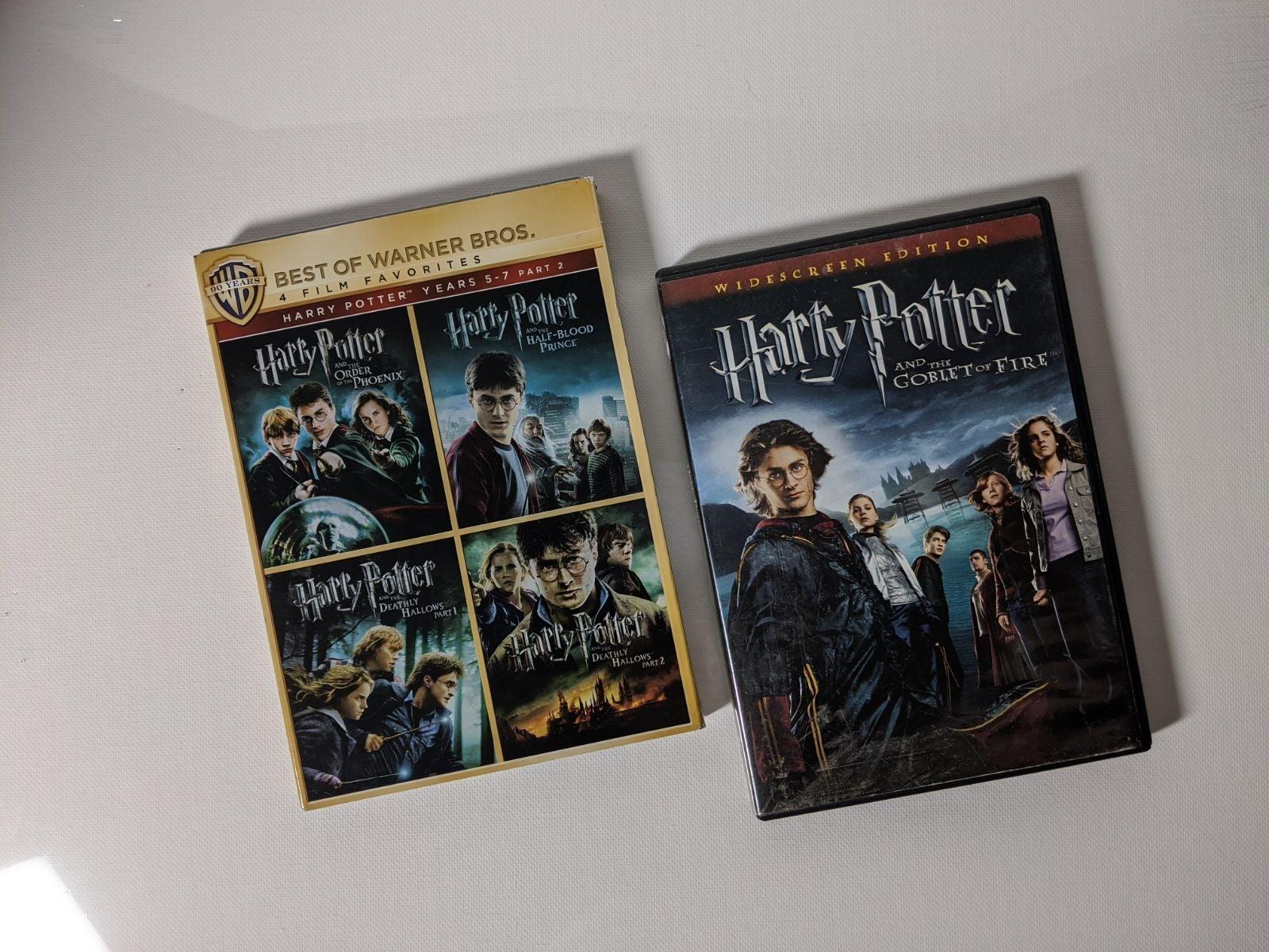 Harry Potter Years 4-7 DVD Bundle