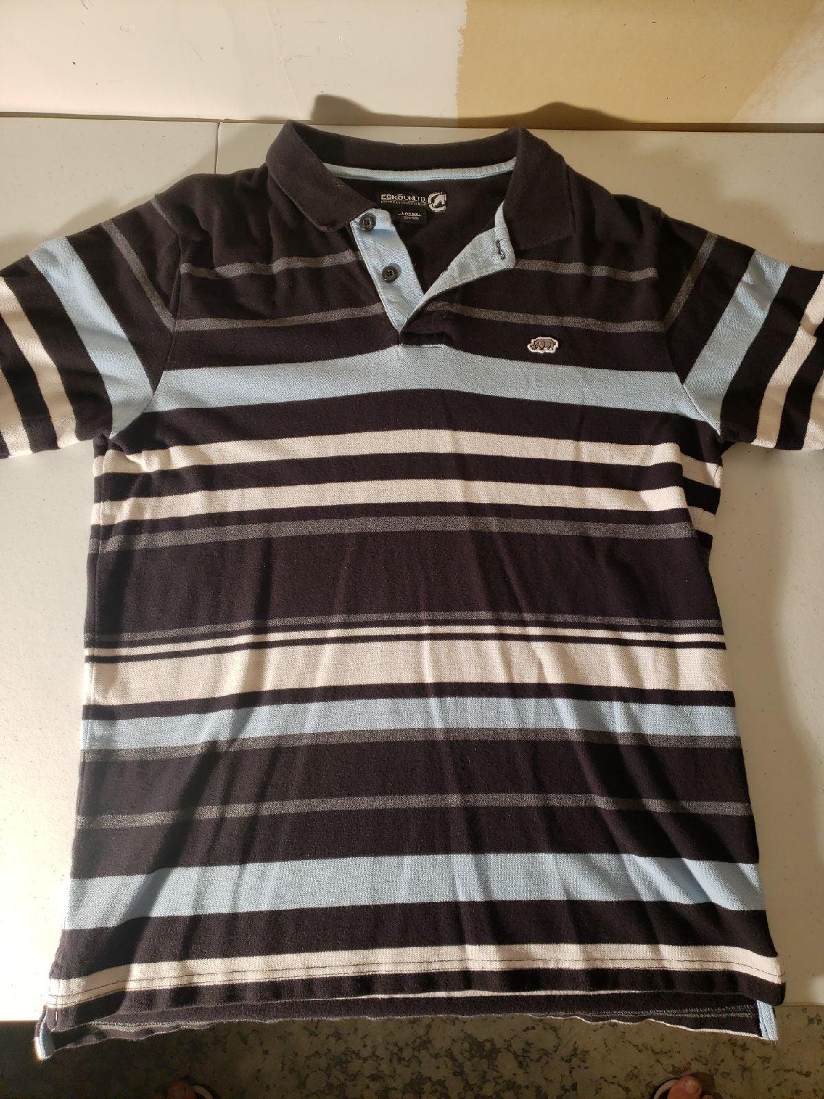 ECKO UNLTD LARGE Polo Shirt GOOD CONDITI