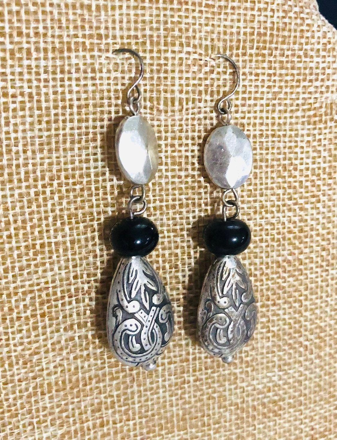 Silver drop Earrings - new