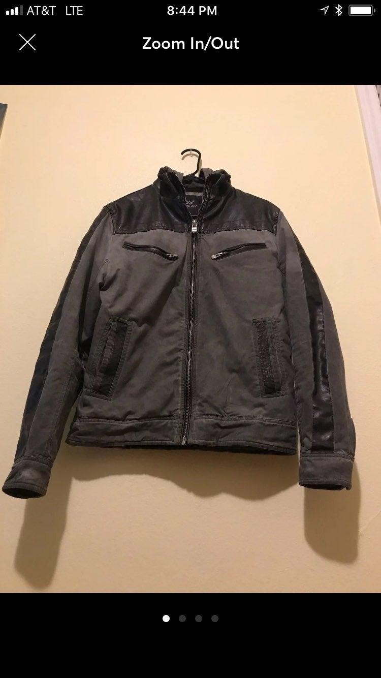 XRAY Mens Sz S Olive Jean Jacket