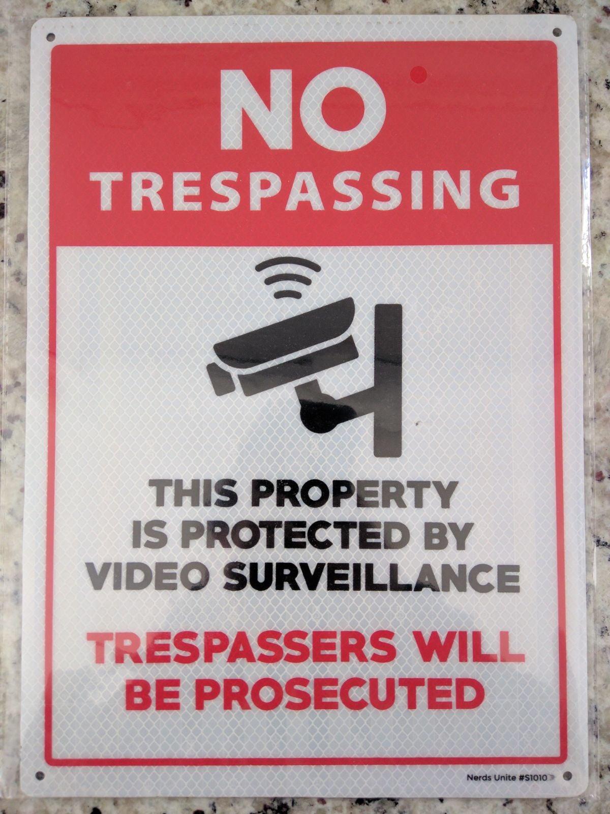 Video Surveillance Sign - No Trespassing