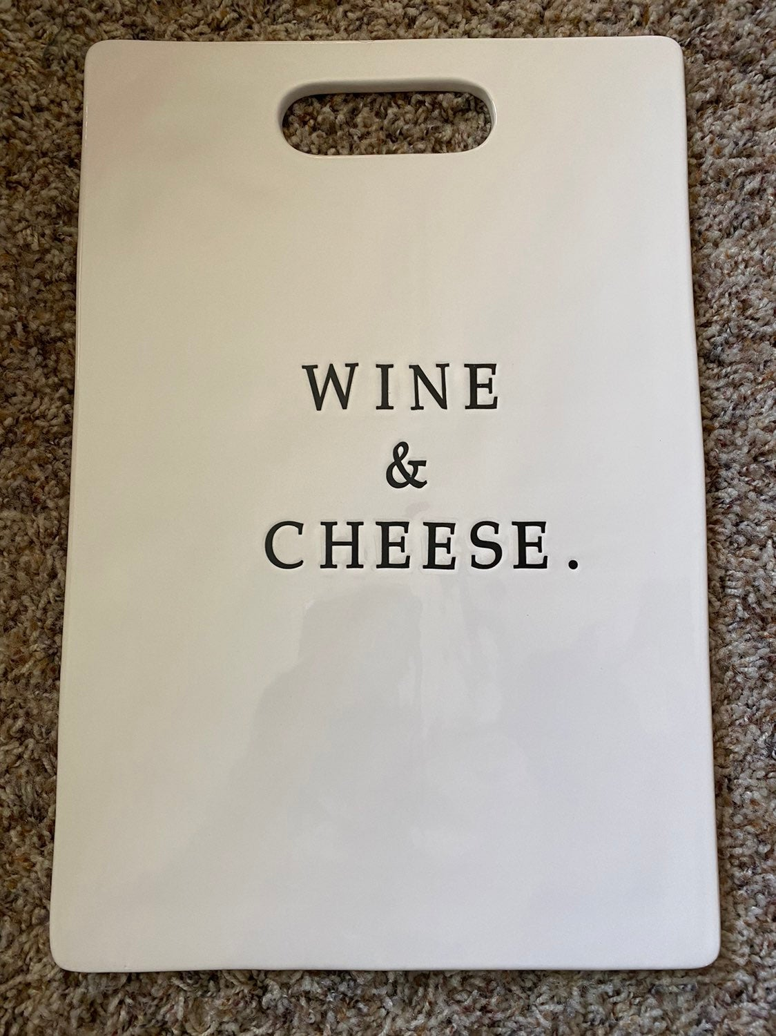 Retired Cheese & Wine board and knife se