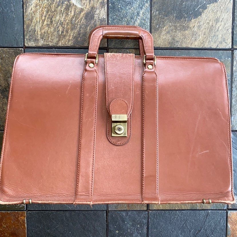 BELLINO BRIEFCASE LEATHER BROWN