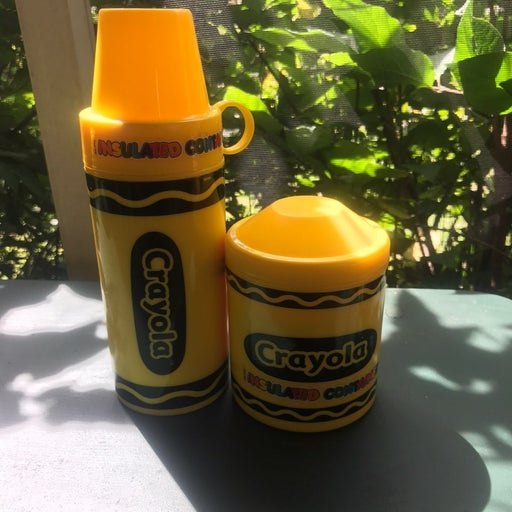 Vintage Crayola insulated container