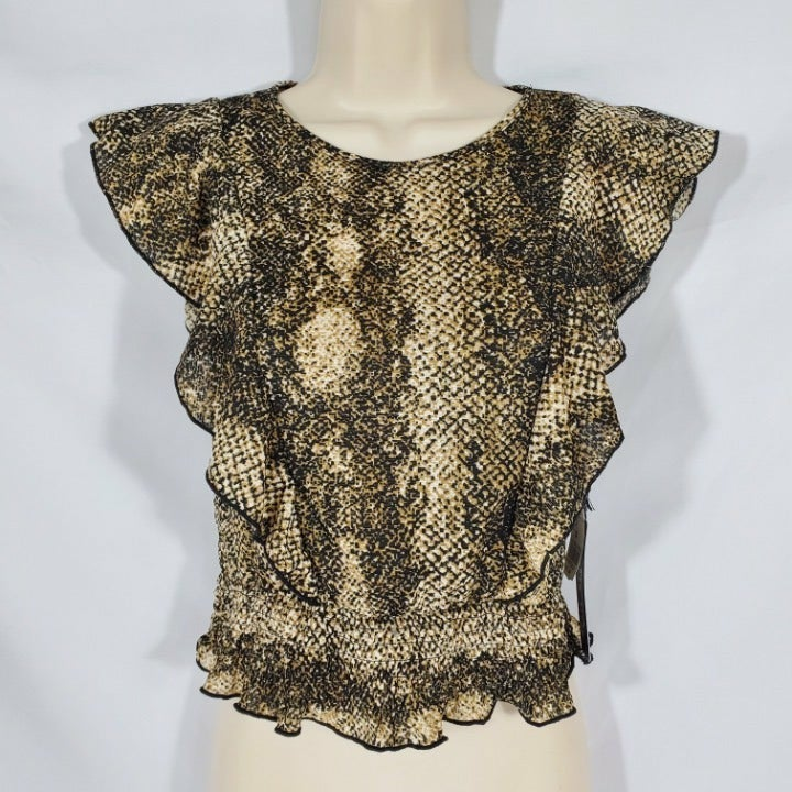 Haute Monde Snake Pattern Blouse Top
