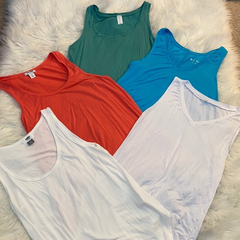 Relaxed fit tank top bundle size small