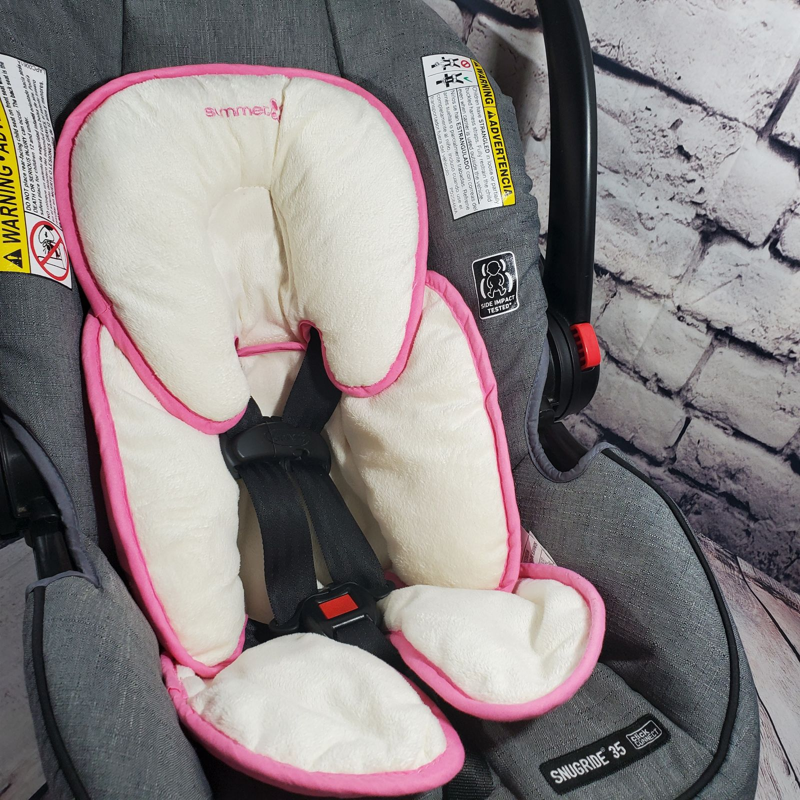 Summer Infant Pink Car Seat Insert