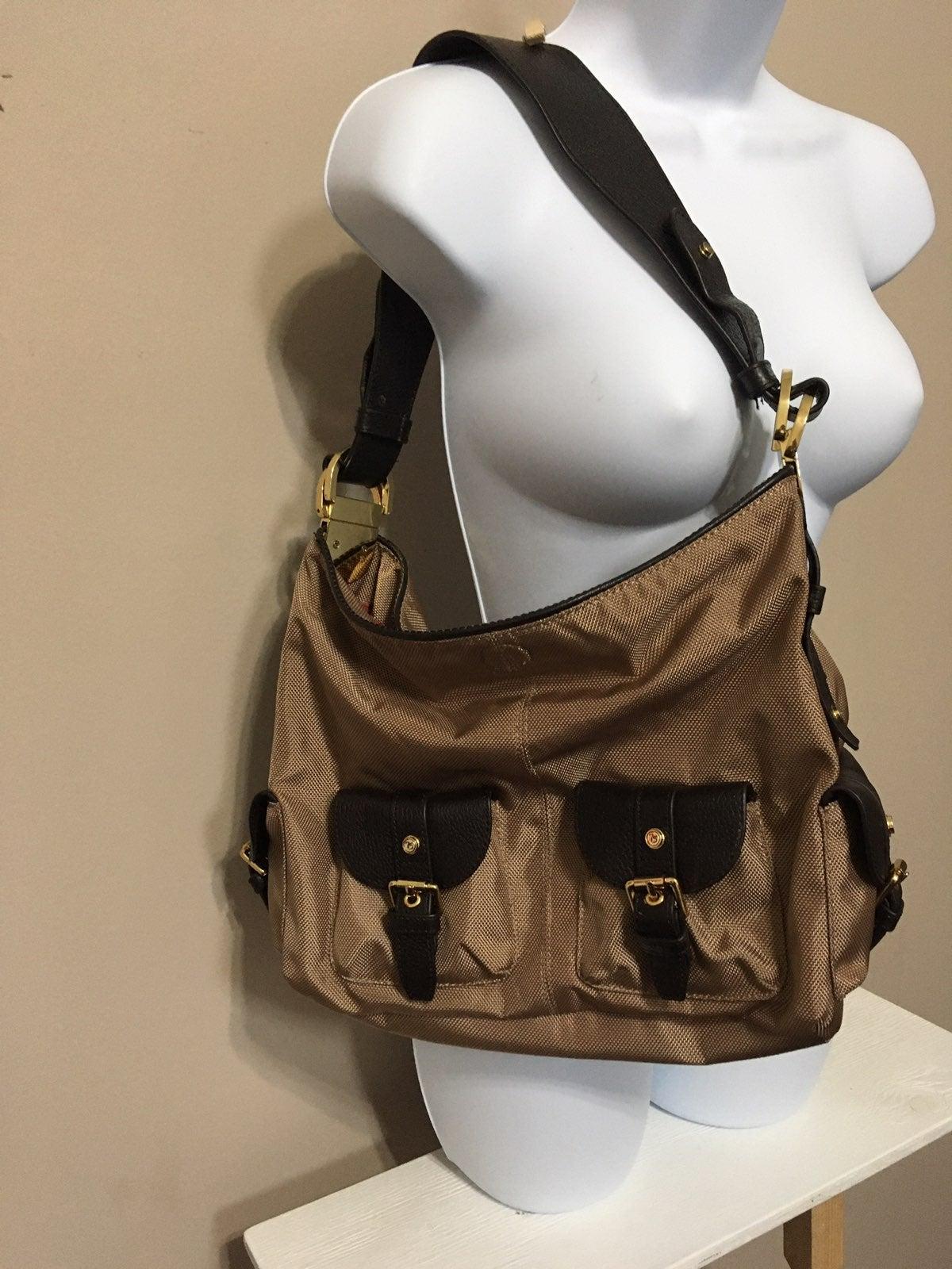 Wine Leather Detail Shoulder Bag