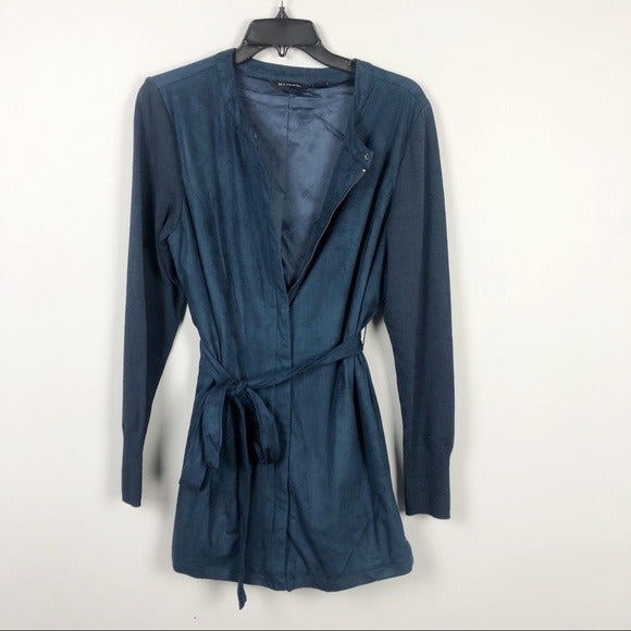 H by Halston Suede Jacket Blue Size 12