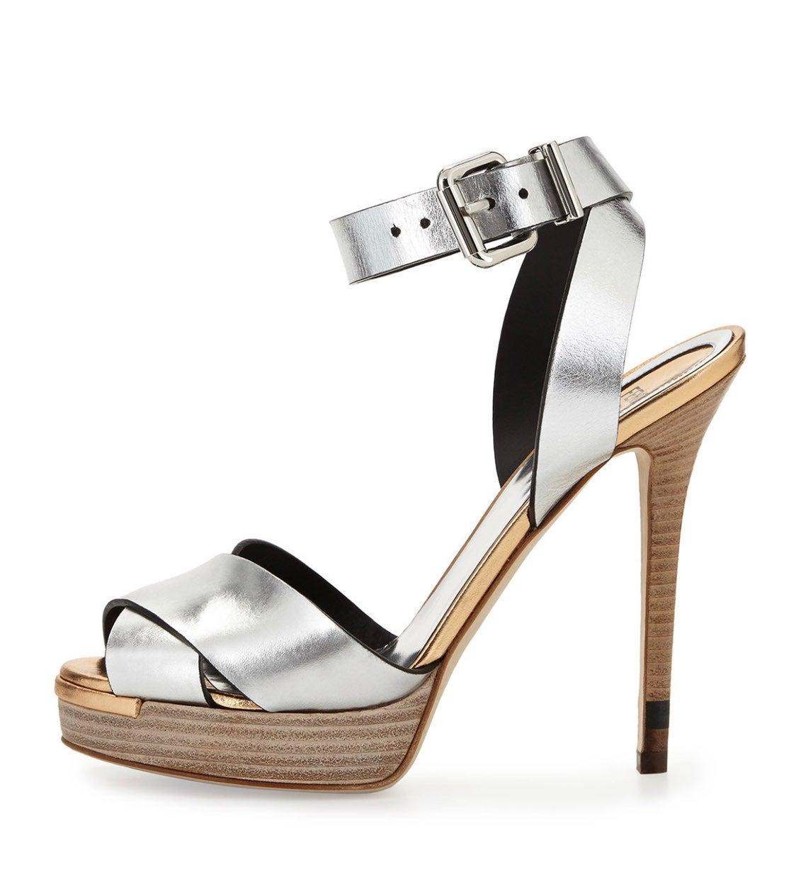Fendi Criss Cross Ankle Strap Sandals