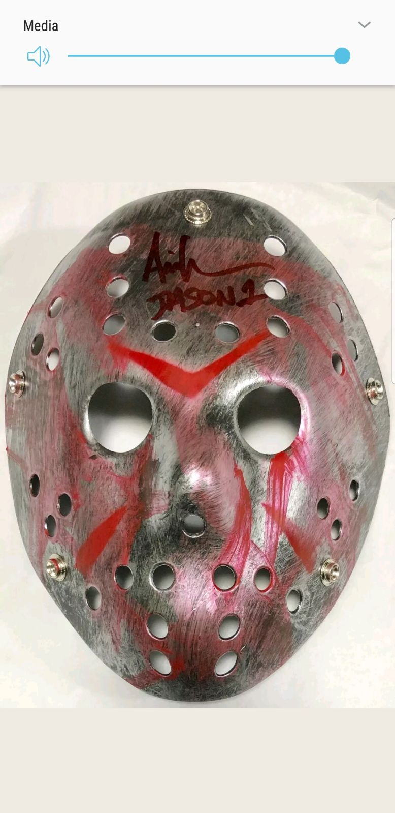 friday the 13th autographed mask