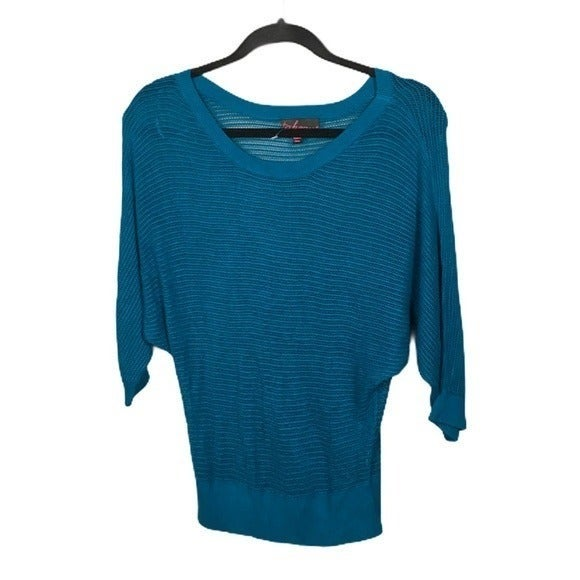 TAKEOUT sweater dolman teal womens med