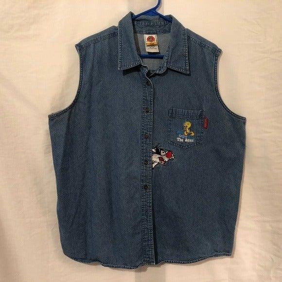 Vintage Looney Tunes Size 18 20 Vest