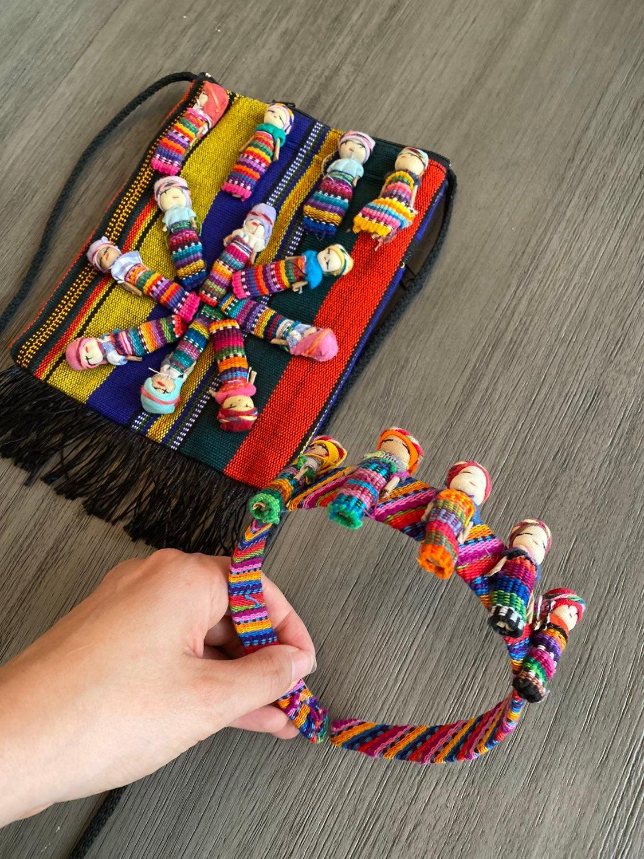 Mexican handmade worry doll satchel