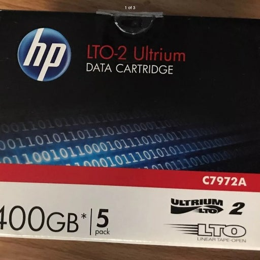 5 HP LTO-2 Ultrium 400GB RW Data Tape