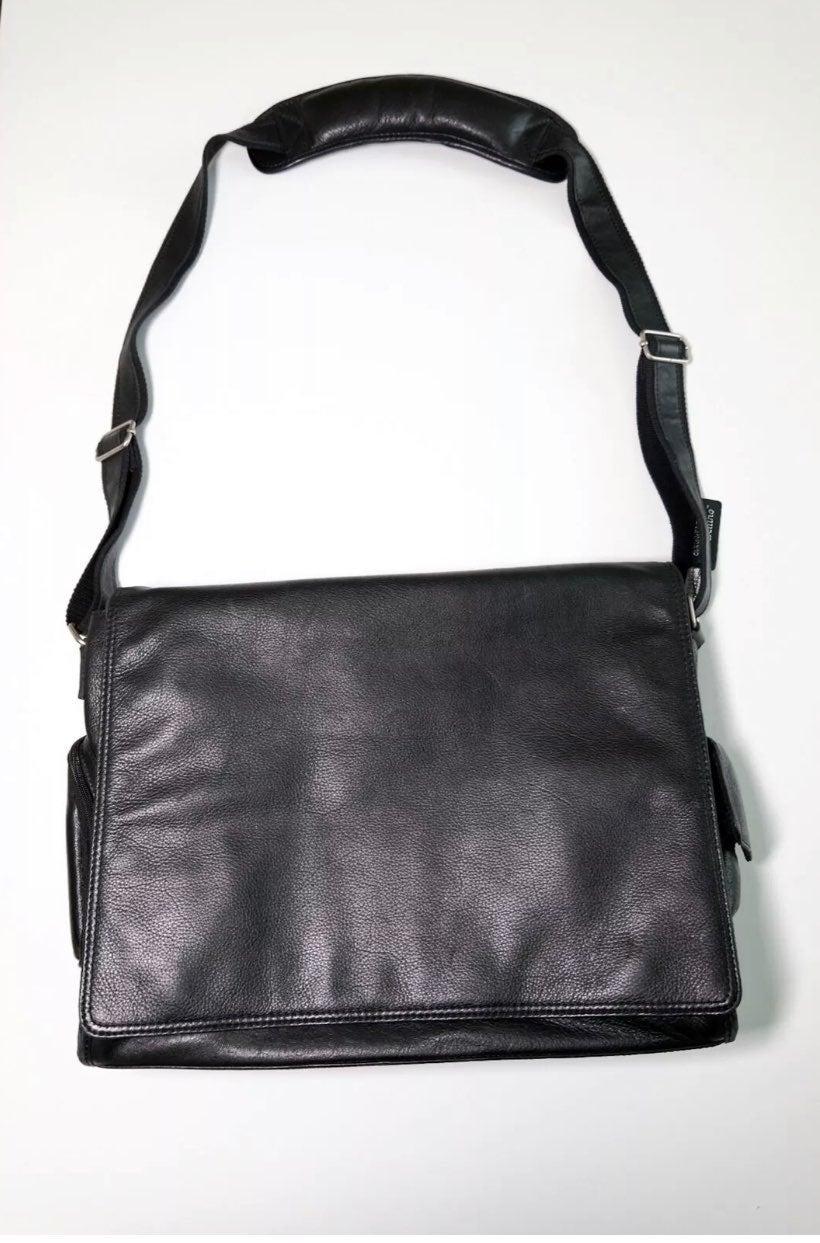 Vintage Genuine Leather Black Laptop bag