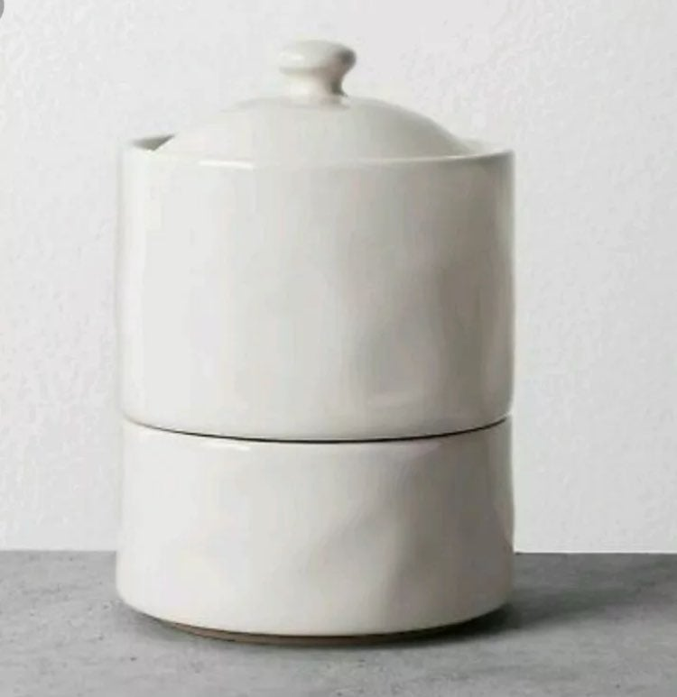 Hearth and Hand Stoneware Stack Canister