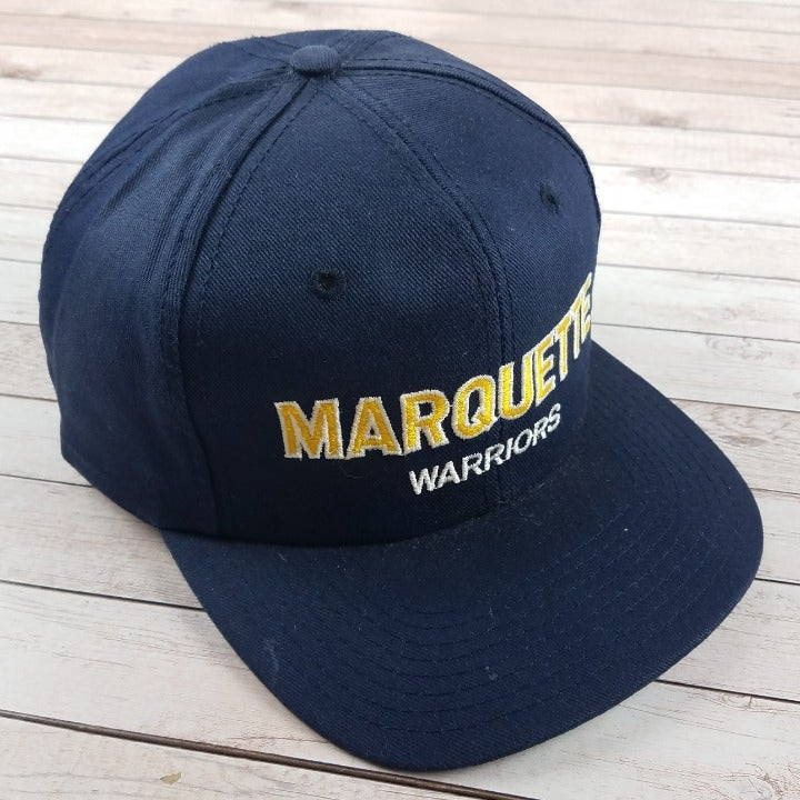 Rare VTG 1980s Marquette Warriors Hat