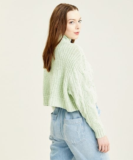 Free People Merry Go Round Cable-Knit