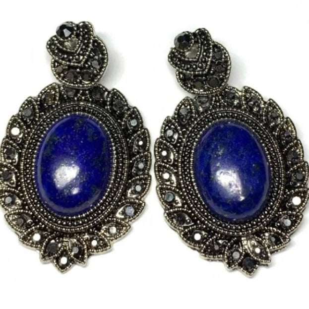 Gemstone charm pendants Lapis lazuli lot