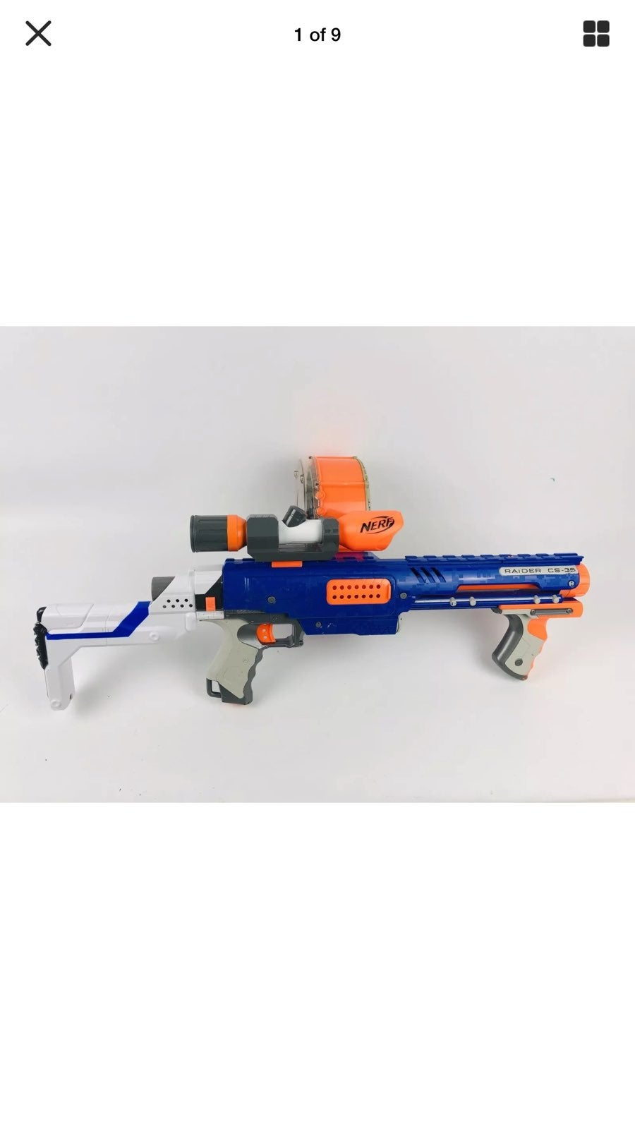 Nerf Raider CS-35 Plus MAGS and barrels