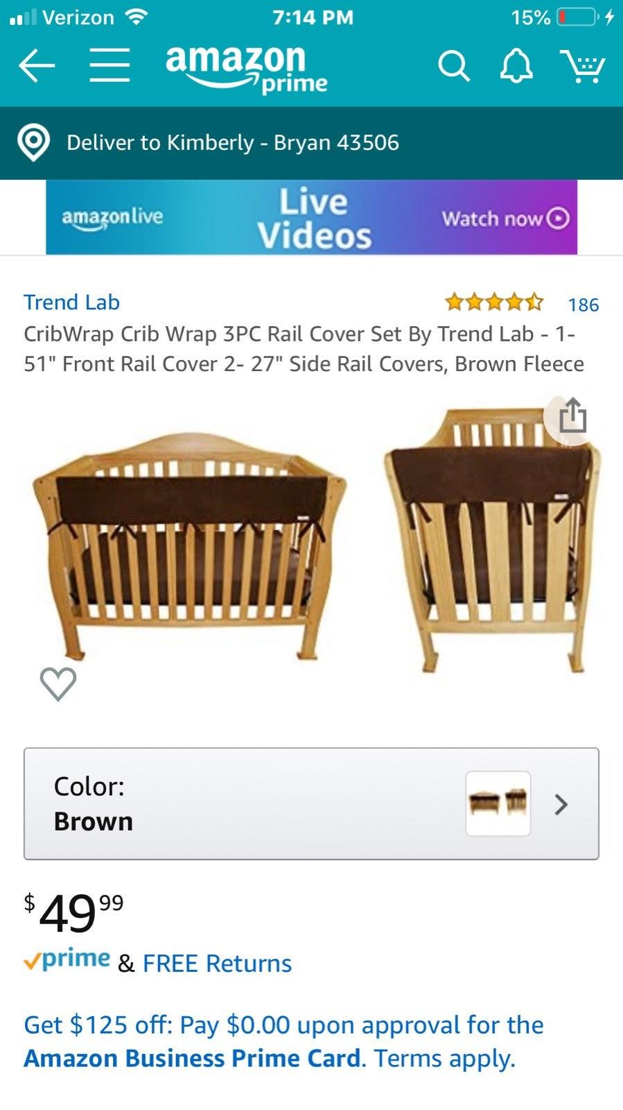 CribWrap Crib Wrap 3PC Rail Cover Set