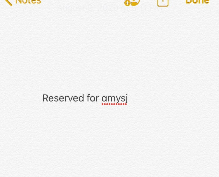 Reserved for amysj