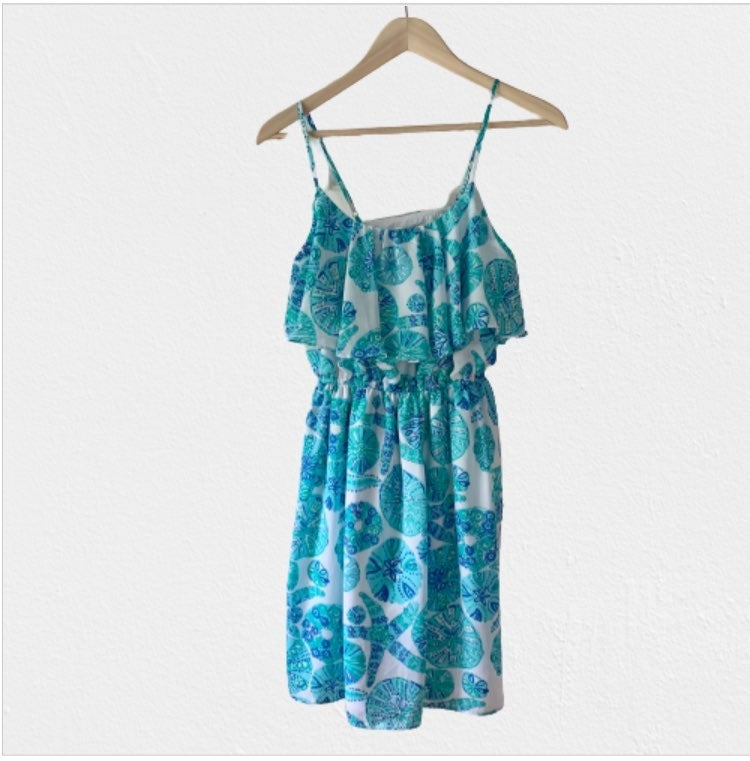 Lilly Pulitzer Turquoise Flounce Dress