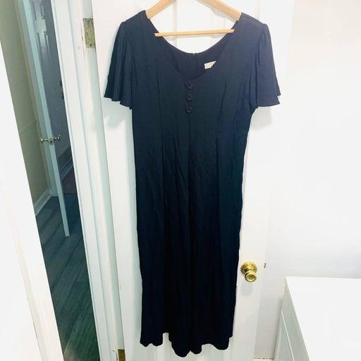Vintage Express Black Jumpsuit Sz 6