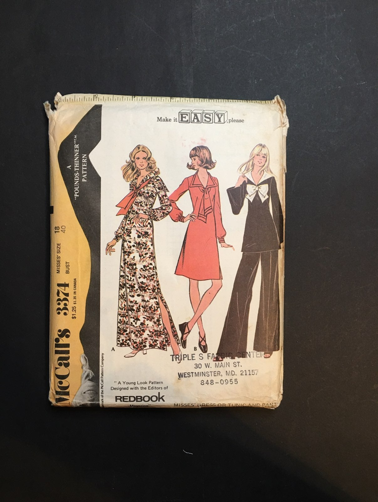 Vintage McCall's Pattern Dress or Tunic