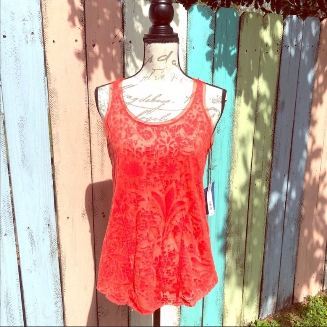 Coral Lace Tank Top Size Medium