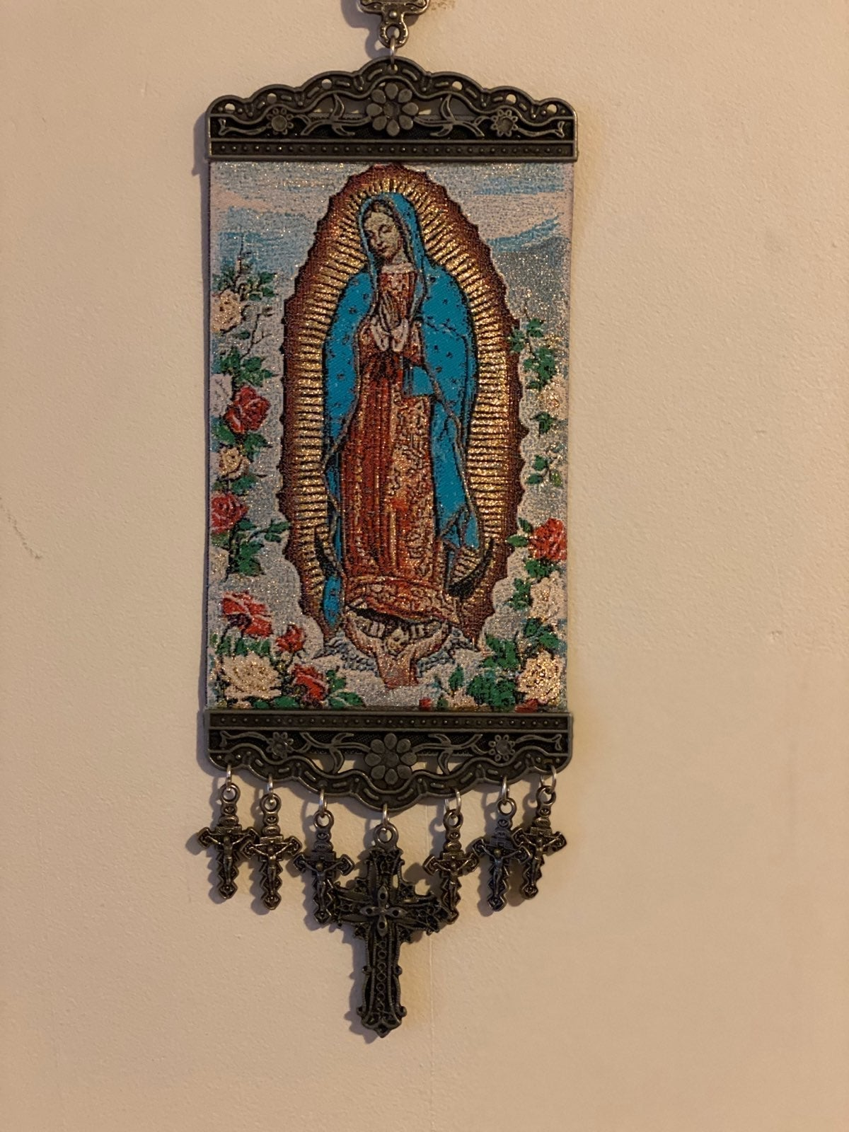 Religious icon Banner of Guadalupe Mary