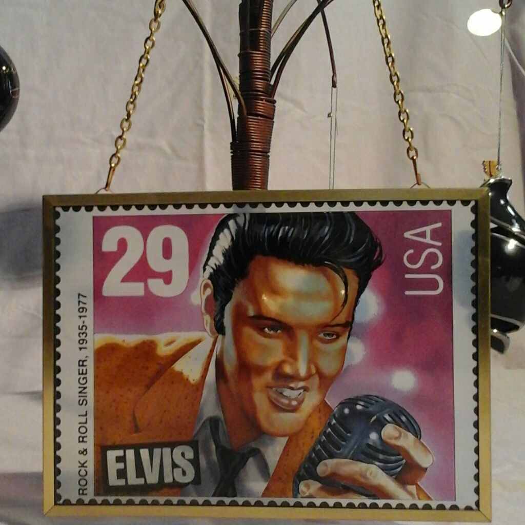 Elvis Presley stained glass