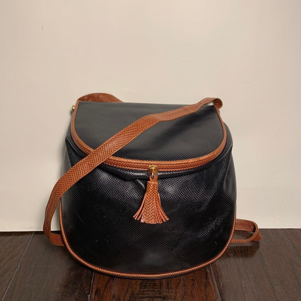 Vtg Bottega Veneta Crossbody Leather Bag