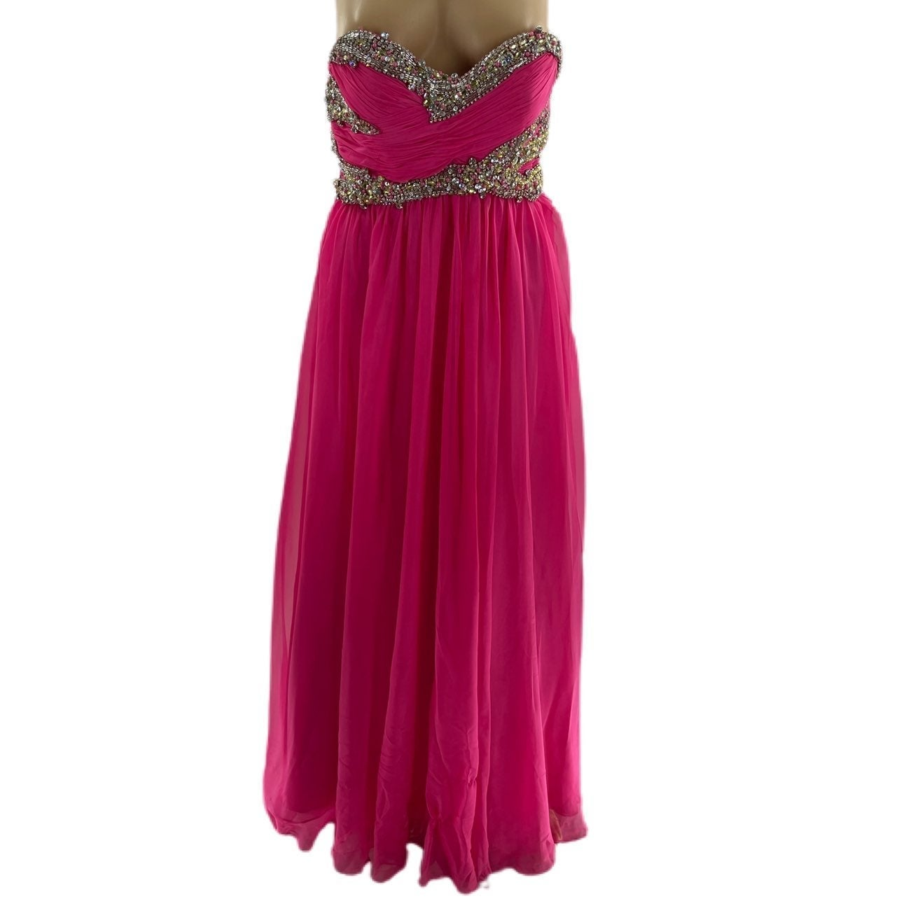 Sherri Hill Pink Beaded Gown Size 2