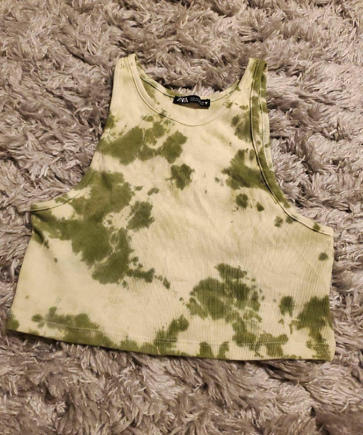 Zara Tie Dye Crop Top