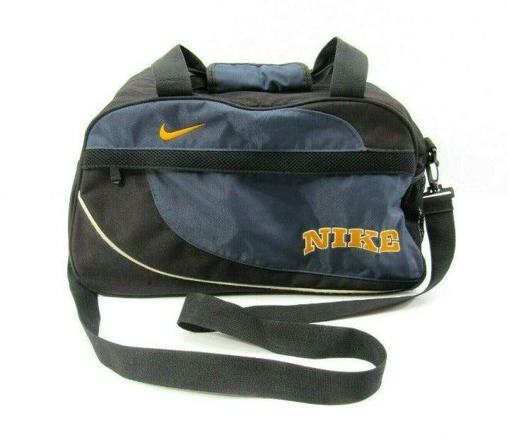 Vintage Nike Duffel Gym Bag Blue Black B