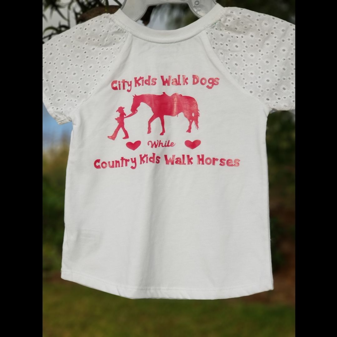 """NWOT """"CITY & COUNTRY GIRLS"""" 5T GIRLS TOP"""