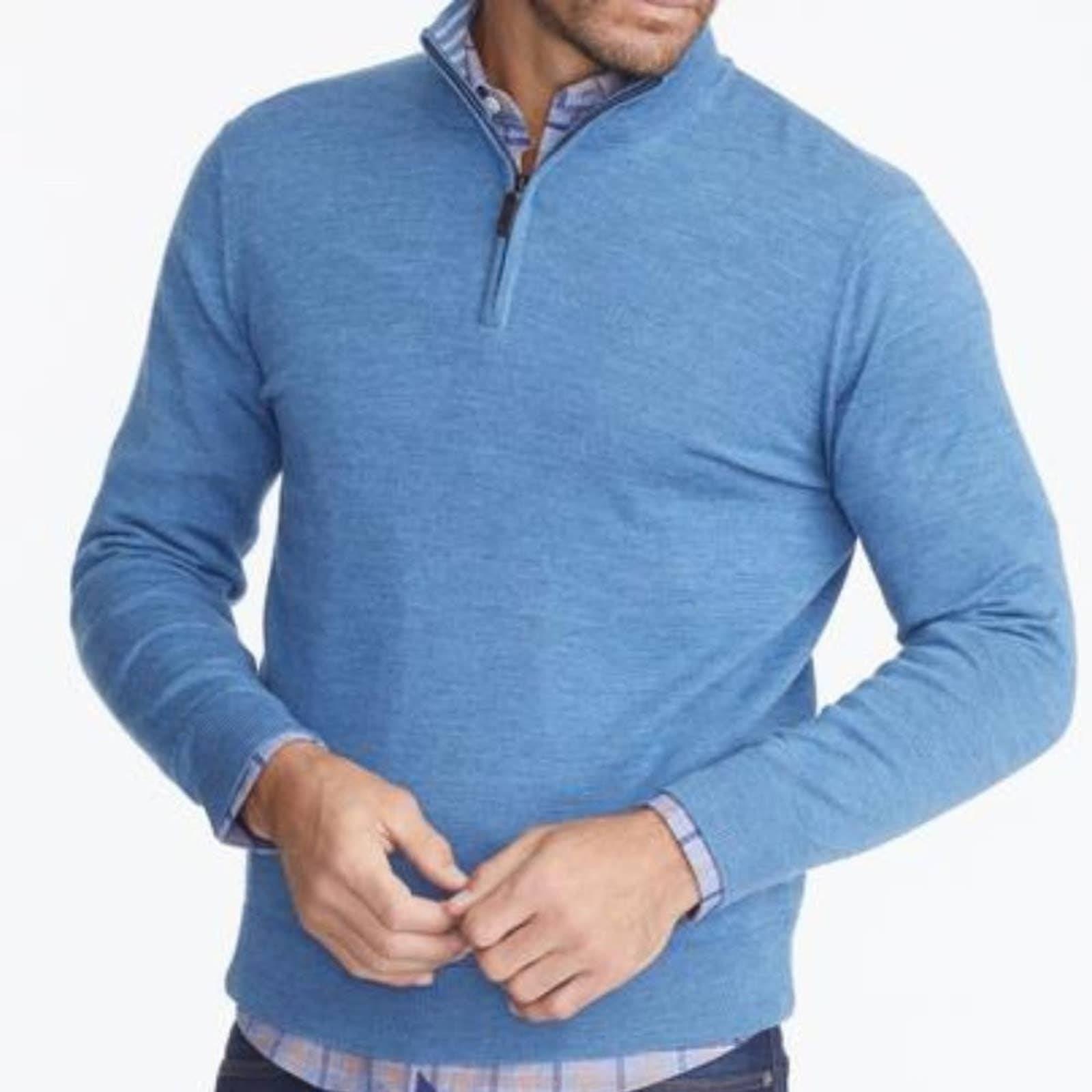 UNTUCKit Merino Wool Quarter Zip Blu XXL