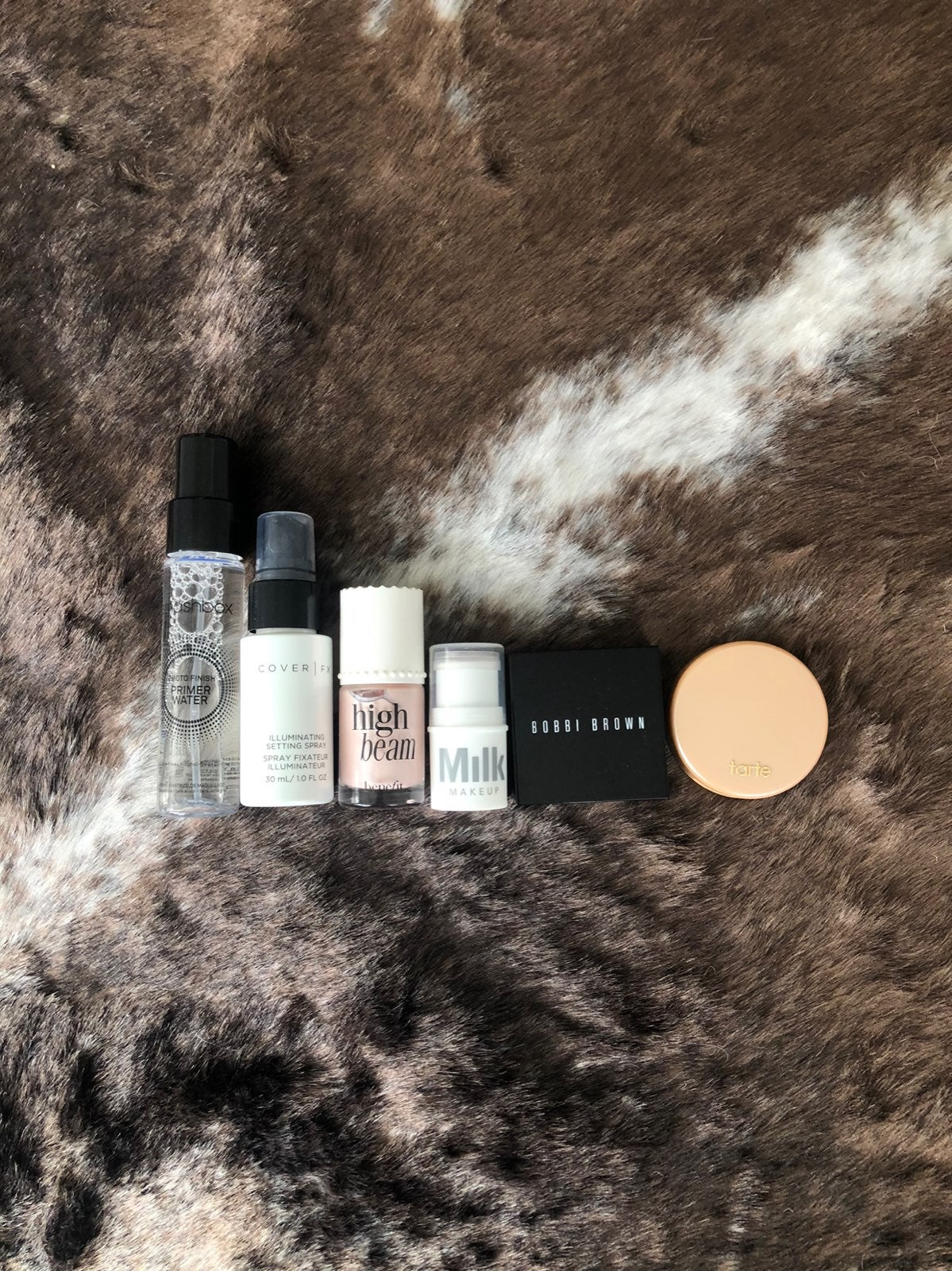 Highlighter and setting spray bundle
