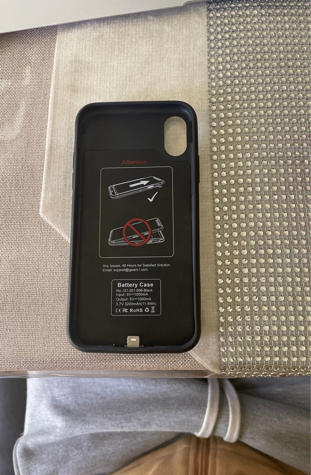iPhone X battery charge case