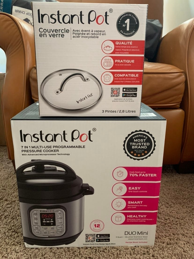 Instant Pot Duo Mini with Glass Lid