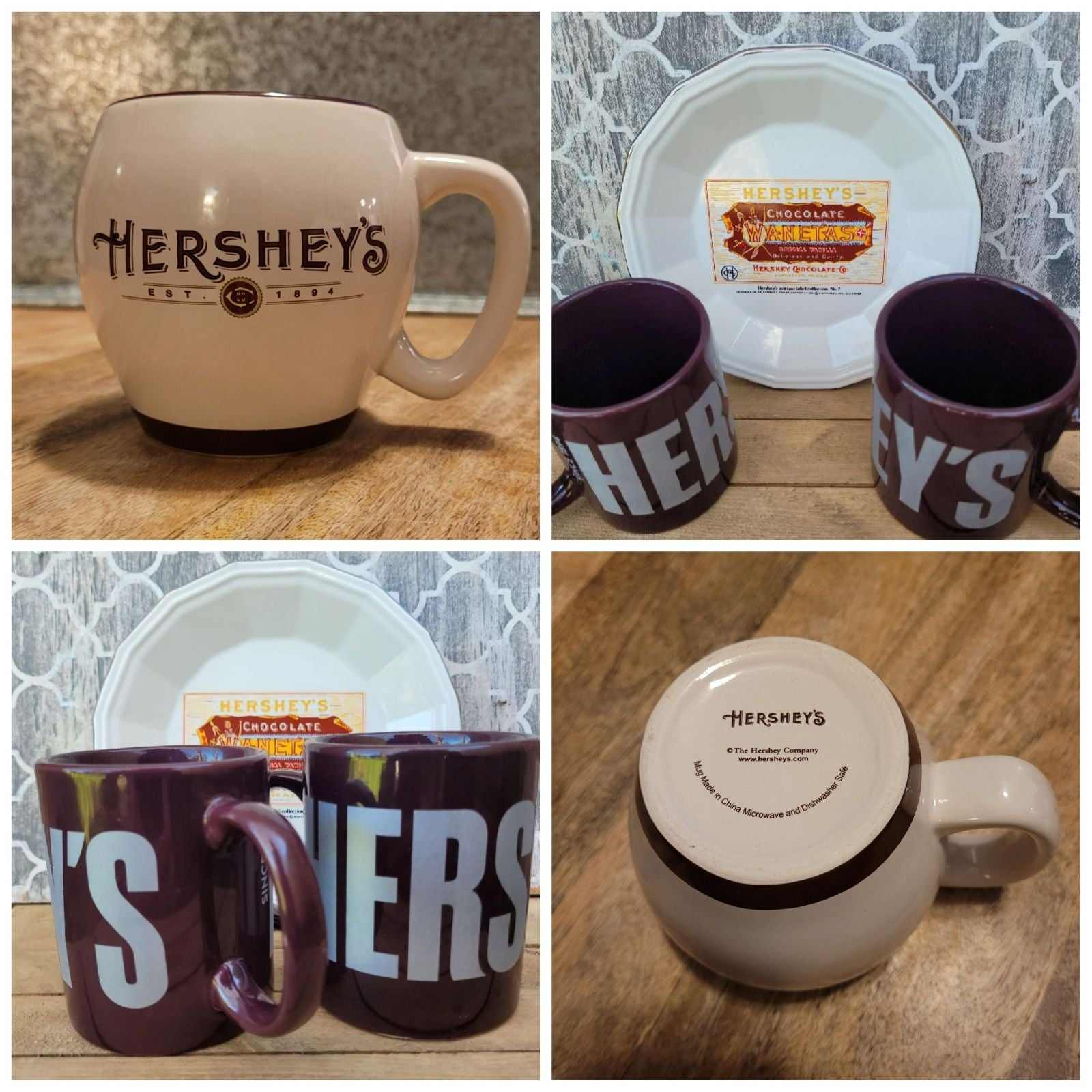 Hersey's Collectible Mugs and Plate