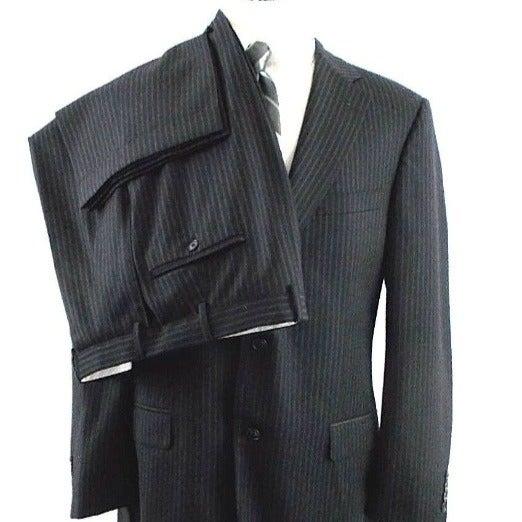 Samuelsohn Men 42L 32x32 Pinstripe Suit