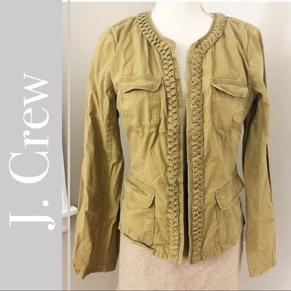 J. Crew Chino Khaki Twill Braided Jacket
