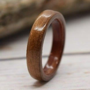 Black walnut bentwood ring with aromatic cedar, Size 8.5 Ready To Ship