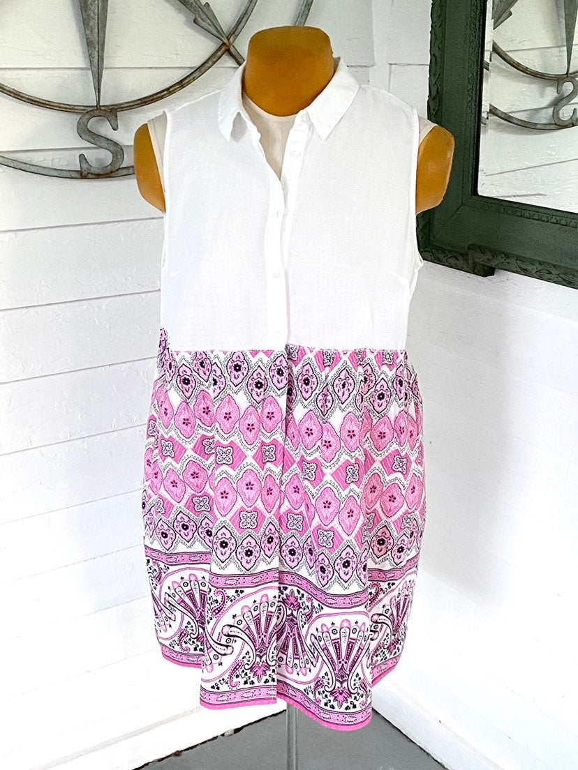 Upcycled a.n.d. White Shirt & Pink Skirt