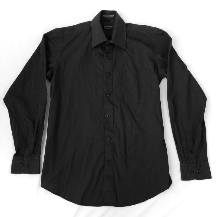 Milani Men's Black Business Dress Shirt